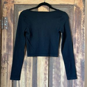 Forever 21 Tops - FOREVER 21 ribbed long sleeve crop top